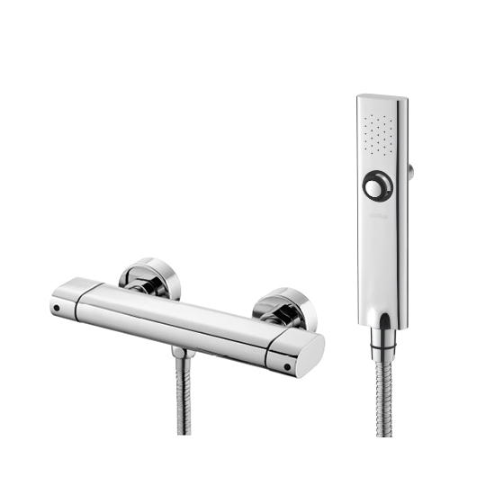 Shower Mixer W/ Hand Shower & Hose & Wall Bracket