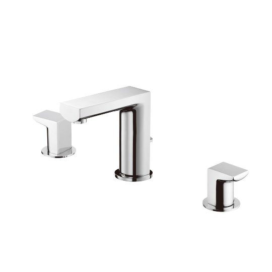 Two-Handle Basin Faucet W/Lift Rod