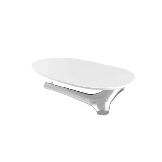 Toilet Tissue Holder W/Shelf