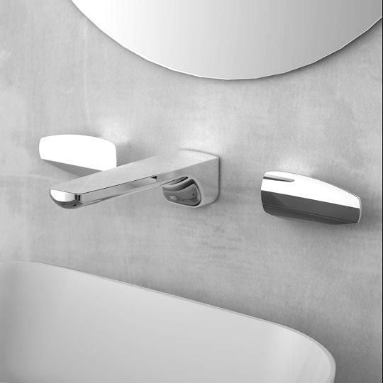 Pan 2 Two-Handle Wall-Mounted Basin Faucet